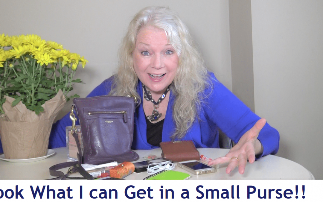 Stop LUGGING a BIG PURSE- What's in my LITTLE PURSE