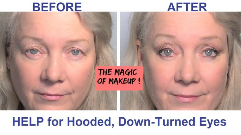Help for Hooded, Downturned Eyes… Re-Vamped Makeup Tutorial, Video