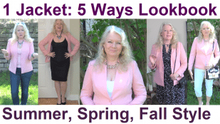 1 Jacket worn 5 Ways for Summer, Spring, Fall