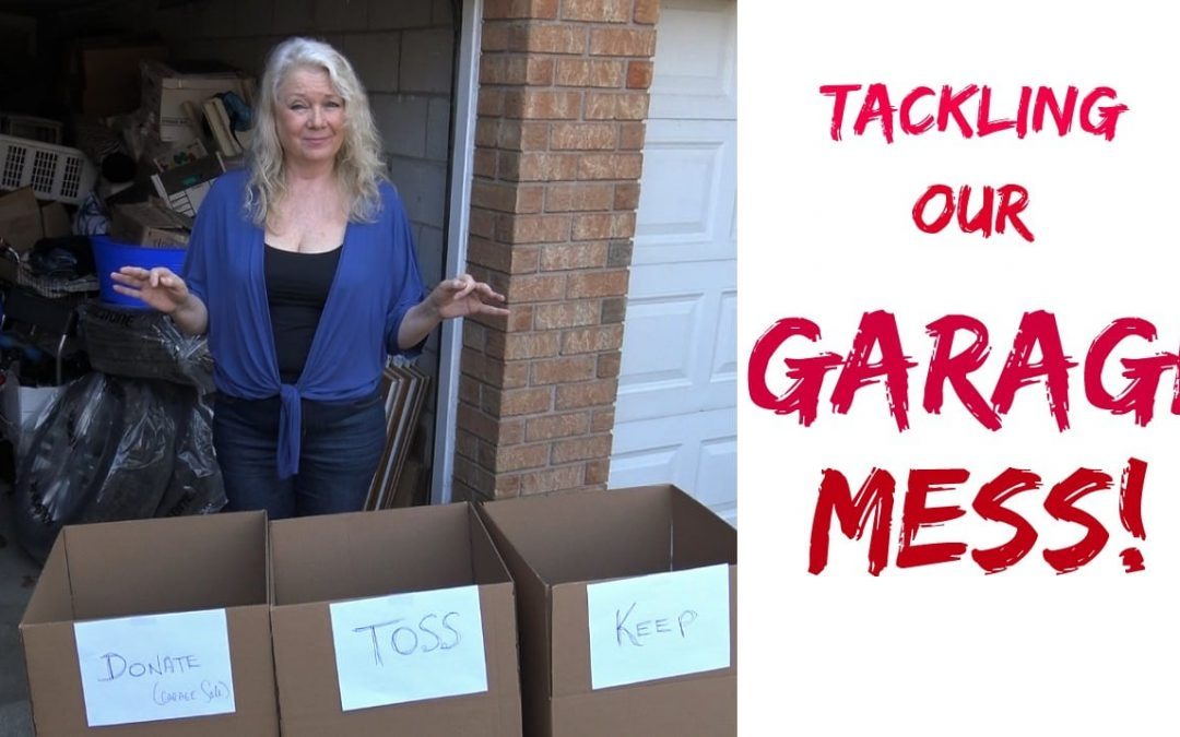 What a MESS! Organizing our Garage…Part 1, Sorting & Selling