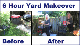 6 Hour Backyard & BBQ Area Makeover