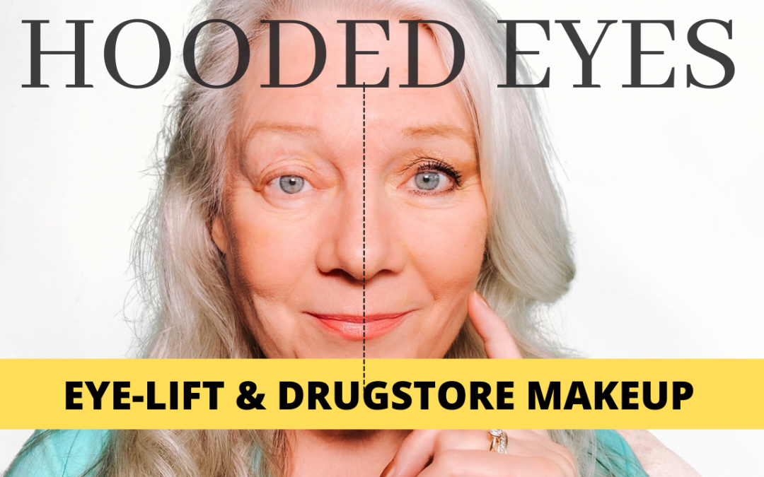 Fix Hooded Downturned Aging Eyes with Drugstore Makeup