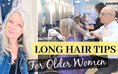 Long Hair Tips for Older Women